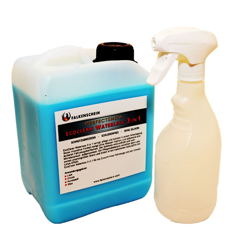 autowaschen ohne wasser eco clean waterless 3in1 2 5l inkl spr hflasche 750 ml. Black Bedroom Furniture Sets. Home Design Ideas